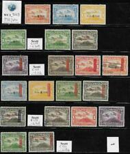 WC1_9009. NICARAGUA. Valuable lot of 1936-37 air mail stamps & sets. Used/MH