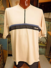 PEARL IZUMI CYCLING JERSEY MEN'S L BEIGE POLYESTER SHORT SLEEVE TECHNICAL