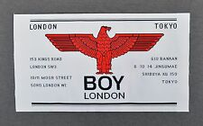 BOY of London-Vintage-ORIGINAL & RARE Tissé Patch-Années 1980 Punk Label Tokyo