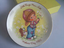 Vtg Avon Collectible Mother's Day Plate 1982 Little Things Mean A Lot Box Easel