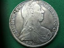 Maria Theresia Taler 1780 Mailand, 10 Perlen bei der Brosche, sehr selten!