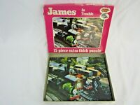 Thomas The Tank Engine James In Trouble Jigsaw Puzzle 15 Pieces Vintage 1984 N1
