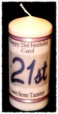 21st Birthday candle personalised gift 21 design   #6