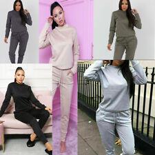 2 Pcs Women's Ladies Casual Long Sleeve Top Bottom Loungewear Tracksuit Suit Set