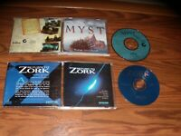 2 PC Games: Myst and Return to Zork on CD-ROM
