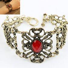 Classic Retro Acrylic Vintage Jewelry Bracelet Chain Bronze Antique Gold gift