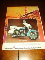 1972 HARLEY DAVIDSON ELECTRA GLIDE - ORIGINAL AD