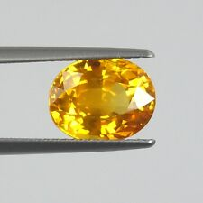 SY069 / 5.55 cts. IF 100% Golden Thai Yellow Sapphire VERY RARE !!