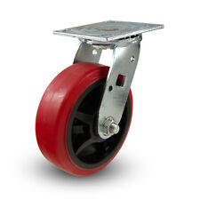 "6"" x2"" Polyurethane Wheel Swivel Caster- Heavy Duty! Industrial!"