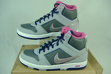 New Womens 11 NIKE Air Prestige 3 High Gray Silver Leather Shoes $80 407363-013