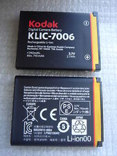 Batterie D'ORIGINE KODAK KLIC-7006 PENTAX Optio D-LI108 D-LI63 GENUINE Battery