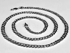 "18k Solid White Gold Miami Cuban Curb Link 26"" 5.3 mm 58 grams chain/Necklace"