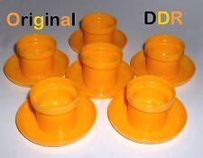 60er/70er DDR ~ 6 Eierbecher gelb 2-teilig ~ ** KULT **