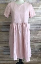 Roolee Womens Pink Side Pockets Crewneck Dress Size Small