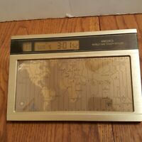 Seiko World Time Touch Sensor Desk Clock vintage Tested And Working Nice
