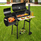 45'' Outdoor BBQ Charcoal Grill Smoker Barbecue Pit Patio Backyard Meat Cooker photo