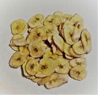 Bulk Unweetened Dried Banana Chips, Fruit Snack (select quantity from drop down)