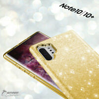Gold Glitter Bling TPU Jelly Gel Case Cover For Samsung Galaxy Note 10 Plus