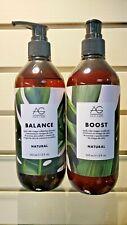AG Hair Natural Balance Shampoo 12oz, Natural Boost Conditioner 12oz Duo