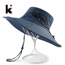 Summer season Photo voltaic Security Hat For Males Seaside Broad Brim Photo v...