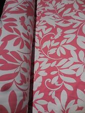 Modern Pink White Floral Butterfly Bird Birdsong Upholstery Drapery Fabric