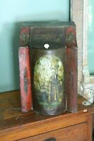 Early Antique Tin Metal Tea Bin Container General Store Cabinet Table Top OLD