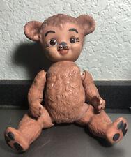 Vintage1984 CERAMIC PORCELAIN JOINTED TEDDY BEAR FIGURINE - SIGNED MARGE B