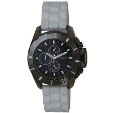 Reloj de cuarzo Henley Boy's con dial negro Silicona Blanca Y Pantalla Analógica St