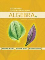 Beginning and Intermediate Algebra : A Guided Approach, Paperback by Karr, Ro...
