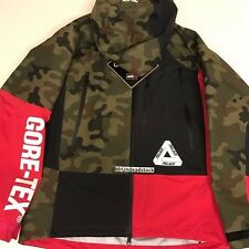 Palace NYC Pink Red Black Camo Multicolor Patchwork Gortex Jacket Sz Medium SS17