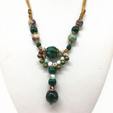 Fashion Ceramics Beads Pendant Ethnic Long Necklace Chain Jewelry Style  XL12