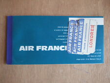 AIR FRANCE VOYAGE BILLETS ETIQUETTES TALON IDENTIFICATION POITIERS PARIS LONDRES