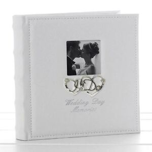 "Wedding Day I Do Memories Photo Album 22 cm High 40 Pages Takes 5 x 7"" 13 x 18cm"