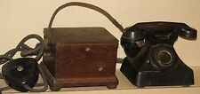 PYRAMID phone vintage bakelite 1930's with crank MAGNETO power telephone antique