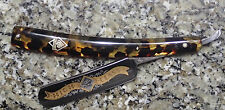 STRAIGHT RAZOR PUMA HIGH CLASS 90 SOLINGEN GERMANY HAMMERED PUMASTER CASE GOLD
