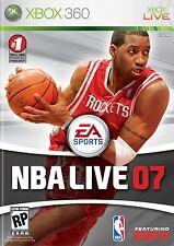 XBOX 360 NBA Live 07 Video Game Multiplayer Online Basketball Tournament 2007 -B