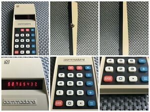 Commodore Personal Electronic LED Calculator Working Boxed