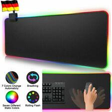 900x400x4 USB LED Gaming Maus Pad Laptop Verdickung PC XXXL RGB Bunte Mauspad DE