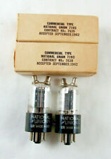 7193 / 2C22 National Union NOS Tubes (Matched Pair) TV-7D/U Tested, Date (1942)