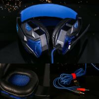 3.5mm Gaming Headset Mic LED Headphones Stereo Surround for PS3 PS4 PC Laptop
