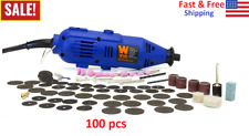 100-Piece WEN Variable Speed Rotary Tool Kit Dremel Rotary Grinder Cutter