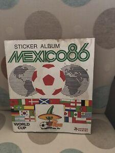 Panini Mexico World Cup 1986 Football Sticker Album Complete