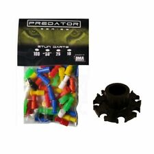 10 Pack - .40 cal Predator Blowgun Stun Darts with 8 Point Dart Quiver, Made Usa