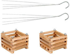 Wooden Square Hanging Baskets 6 