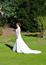 Lace V Neck A-line Regular Wedding Dresses