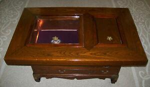 Coffee Table Japanese Hibachi Style Ceremonial Tea Copper Lined LOCAL PICK UP