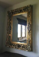 More details for  antique gold decorative french ornate over mantle statement wall mirror 4ft
