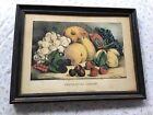 "Original Currier & Ives ""Fruit OF The Seasons"" Original Frame 1872"
