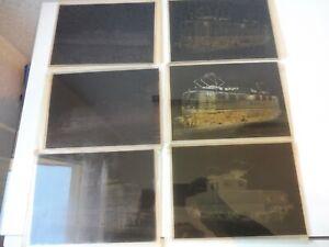6 alte Negativplatten , Negative Lokomotiven , Fried. Krupp Maschinenfabrik !