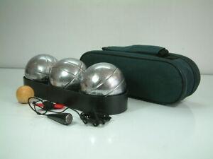 Boules Pétanque Bowls 3 Balls 1 Jack, Measuring Chord & Carry Bag